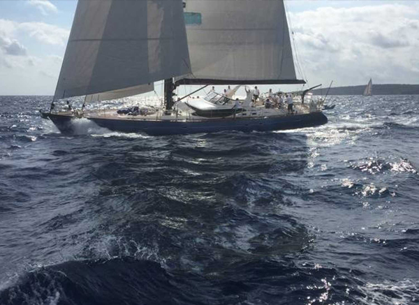 Bare Necessities Oyster 82 sailing